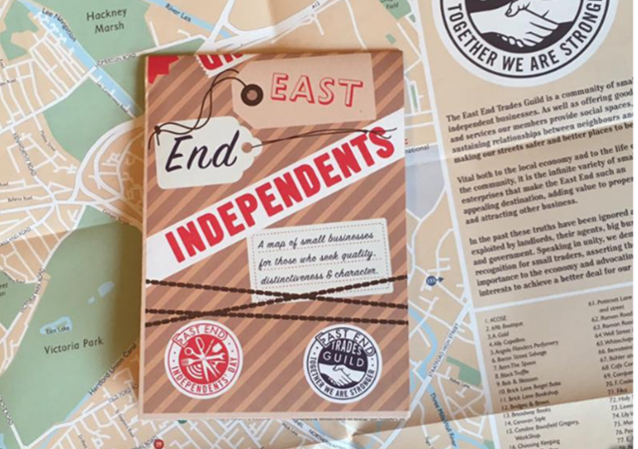 East End Trades Guild Independents' Day map
