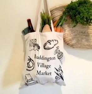 Tote bag at Ruddington market